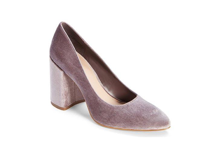 Leith velvet block heels
