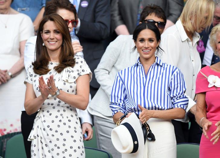 Meghan Markle Kate Middleton at Wimbledon