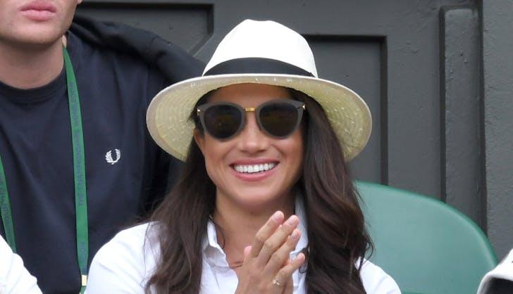 Meghan Markle Wimbledon hat 2016