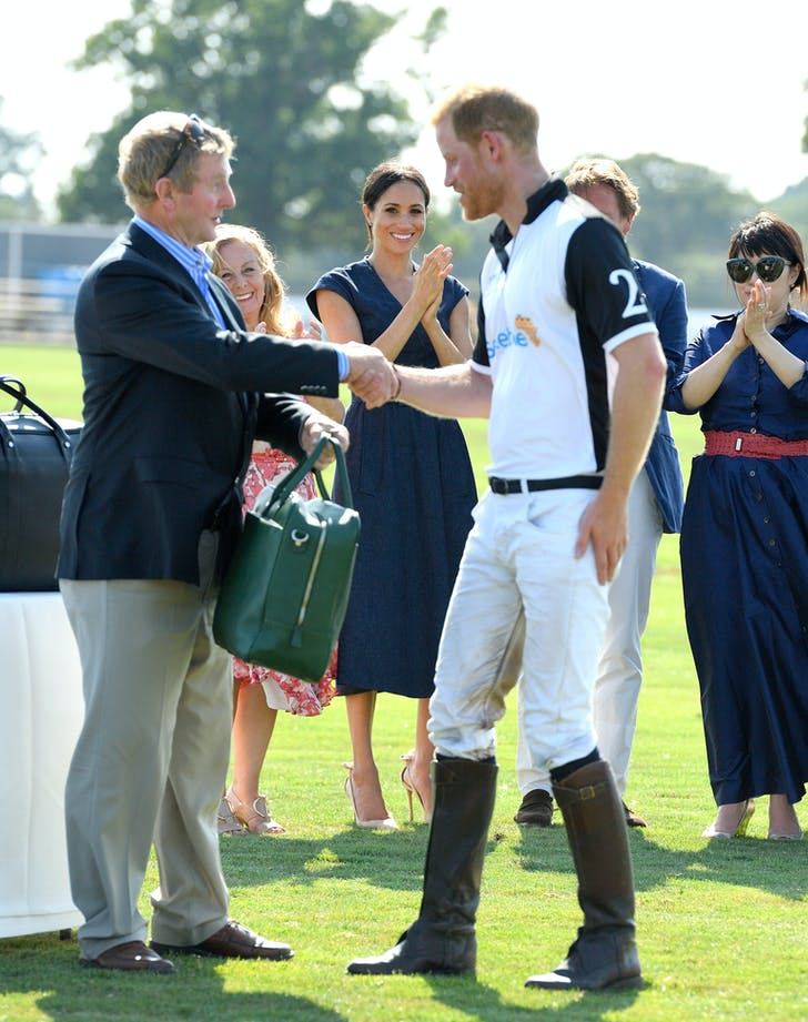 Meghan Markle cheers Prince Harry on at polo match