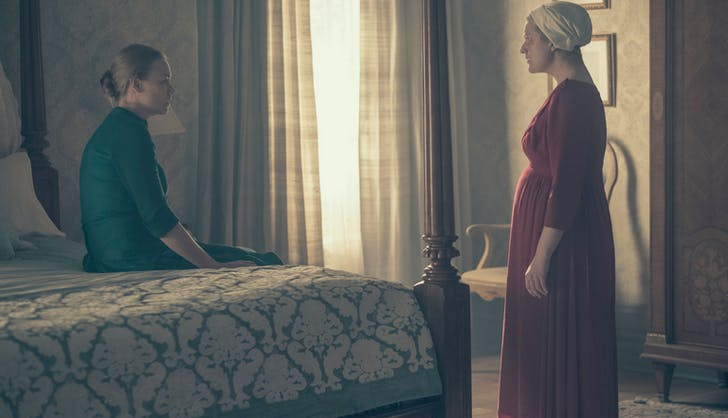 Offred approaches serena handmaids tale