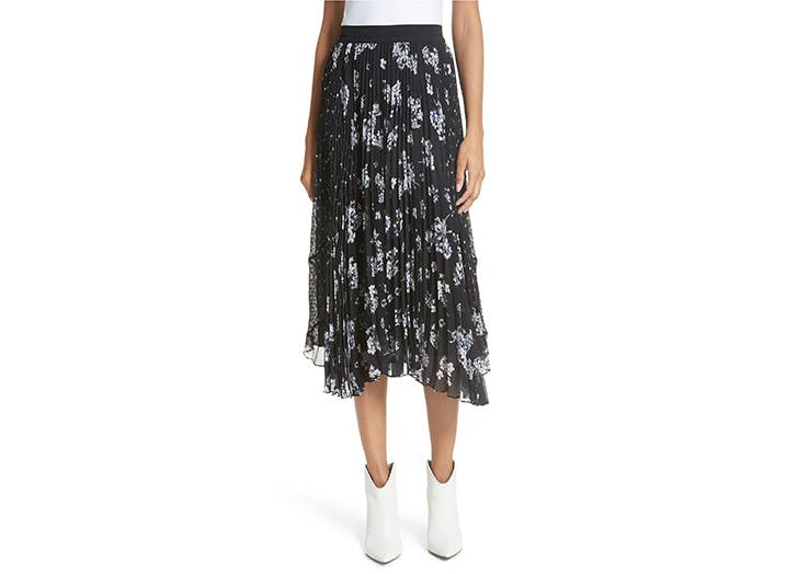 Rebecca Taylor floral pleated skirt