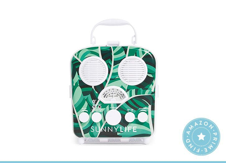 SunnyLife palm print beach speaker
