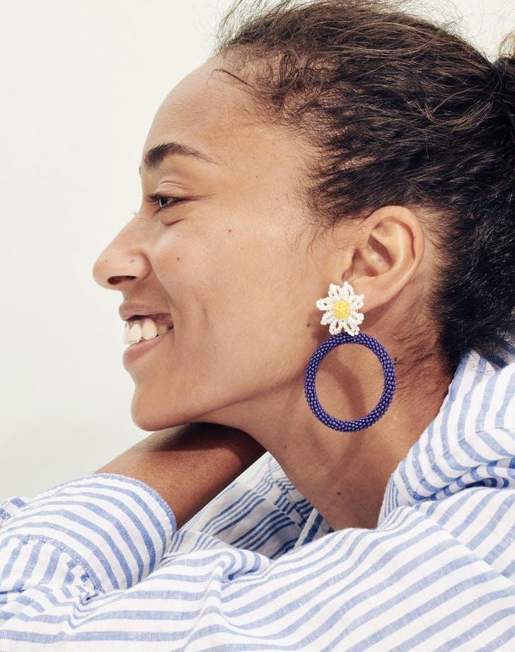 alison lou j crew daisy earrings