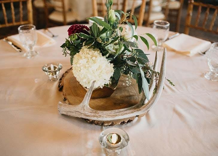 antler wedding centerpiece