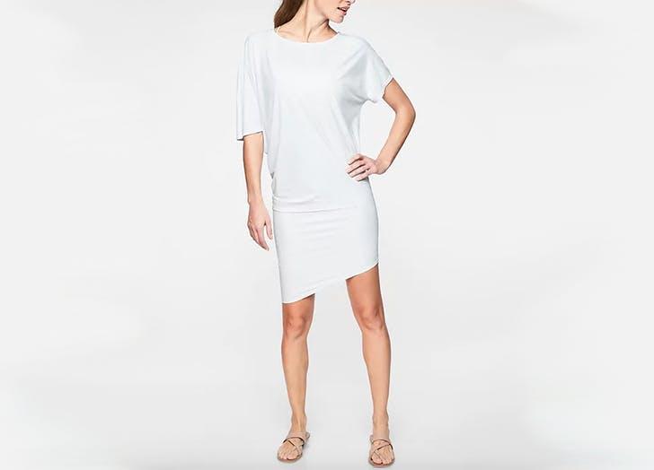 athleta white dress with upf 50