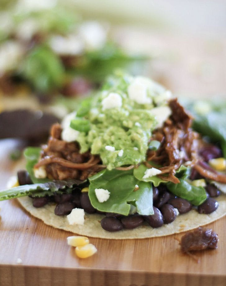 barbecue pulled turkey tostadas recipe