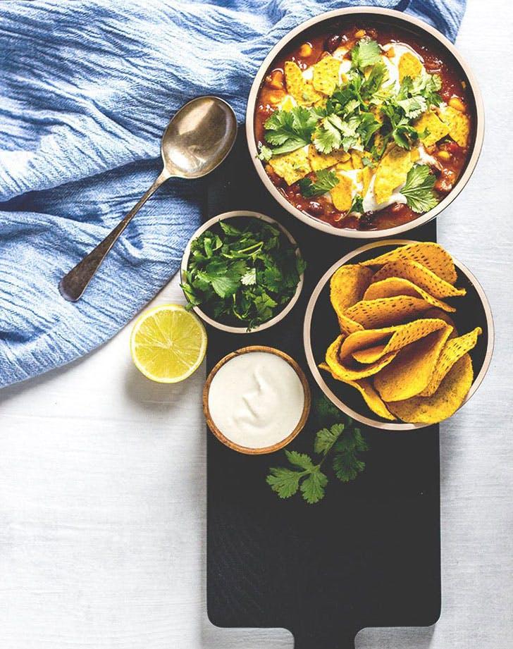 black bean corn nacho soup recipe
