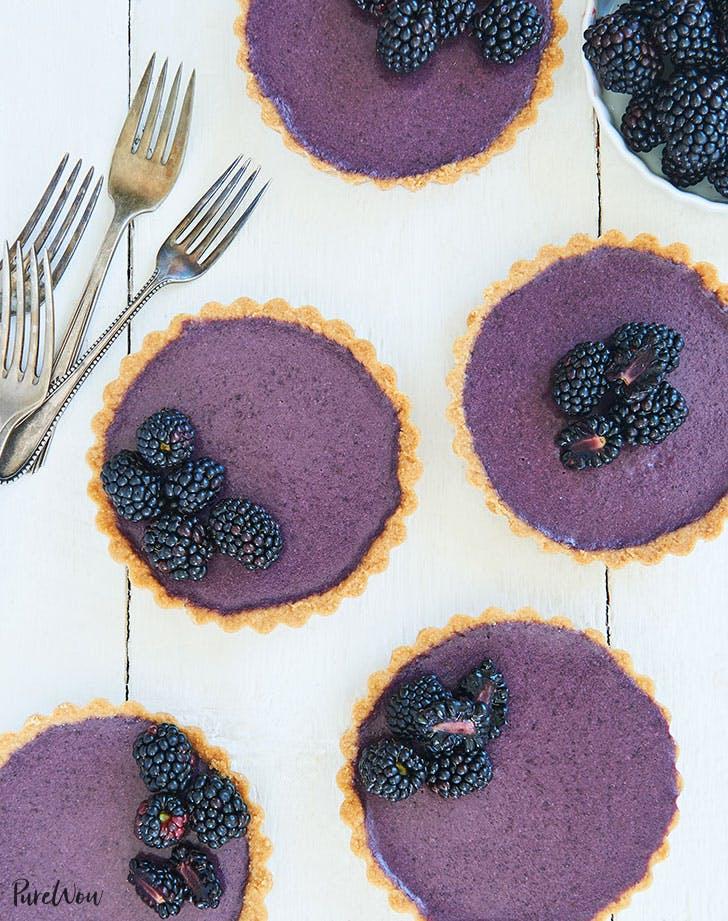 Blackberry Panna Cotta Tartlets
