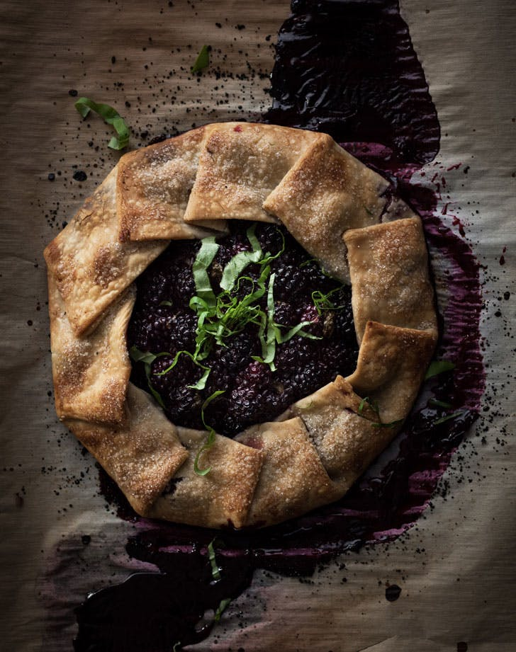 blackberry sweet basil galette recipe