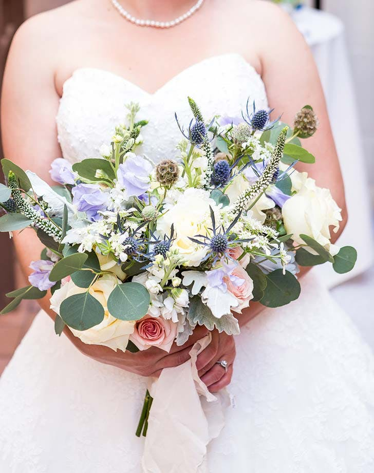 blue Wedding bouquet ideas
