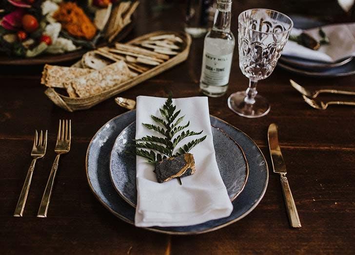 boho napkin idea for wedding
