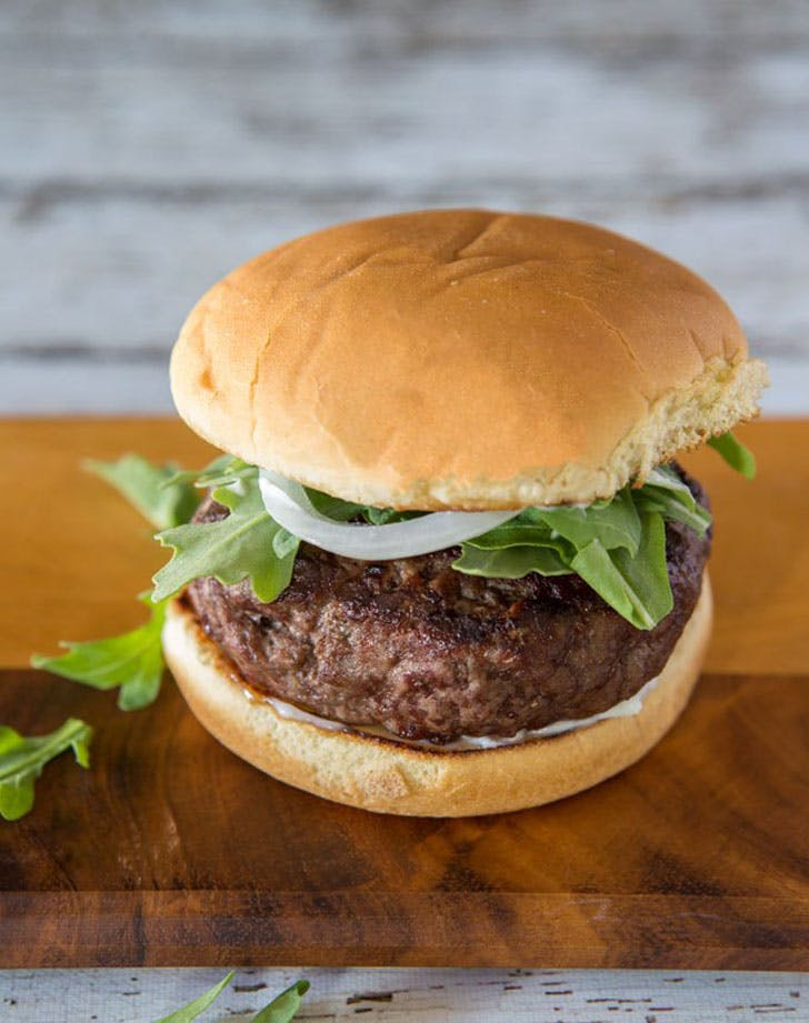 brie and scallion stuffed hamburger recipe