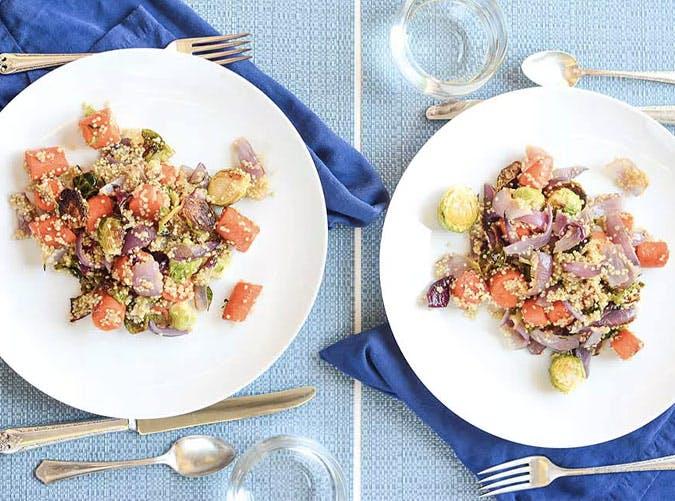 brussel sprouts quinoa