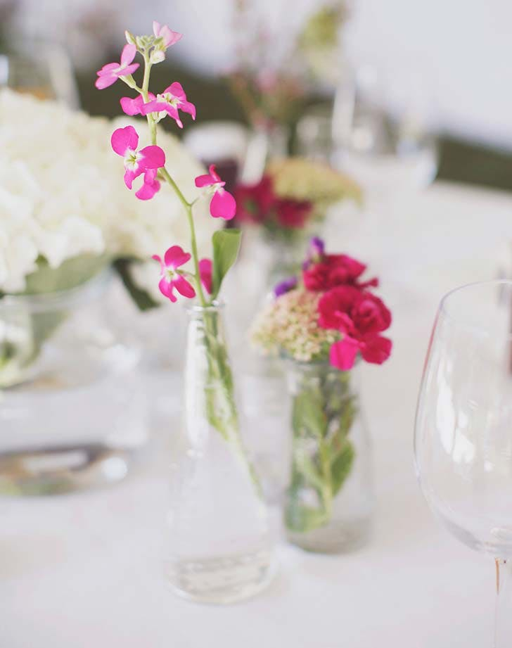 bud vase wildflower wedding