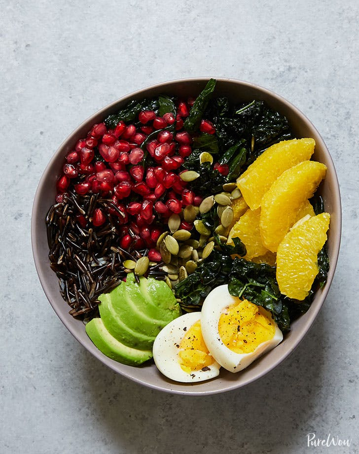 buddha bowl kale avocado orange wild recie recipe