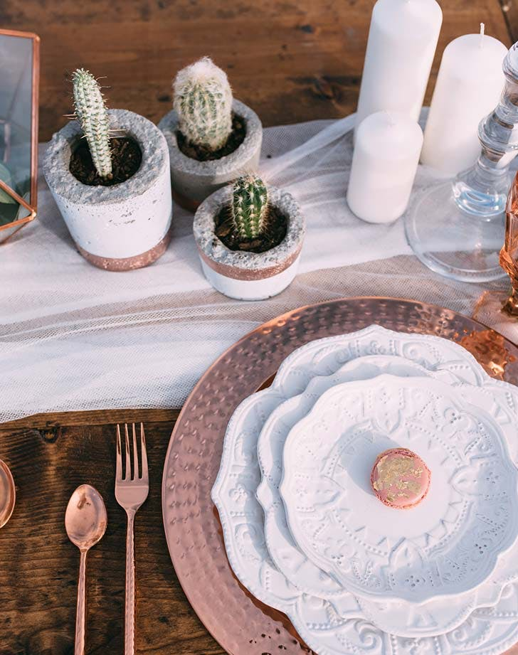 cactus boho wedding decor