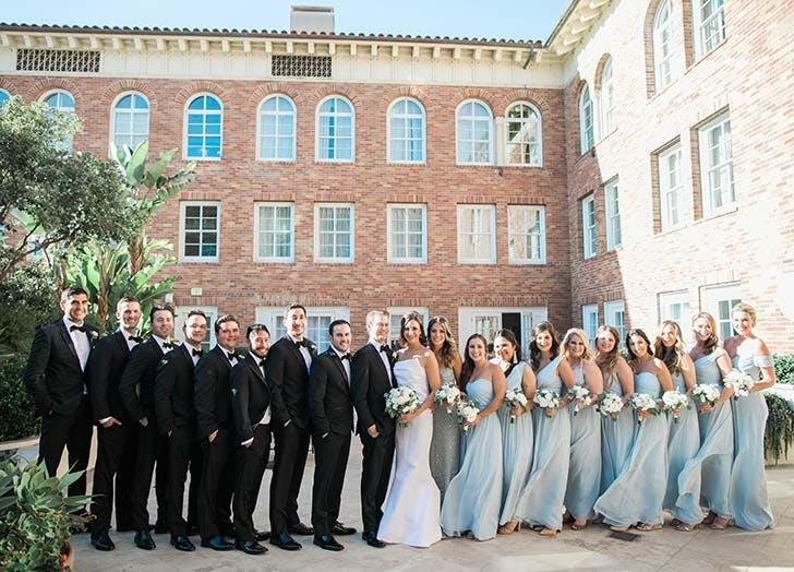 casa del mar wedding party 728