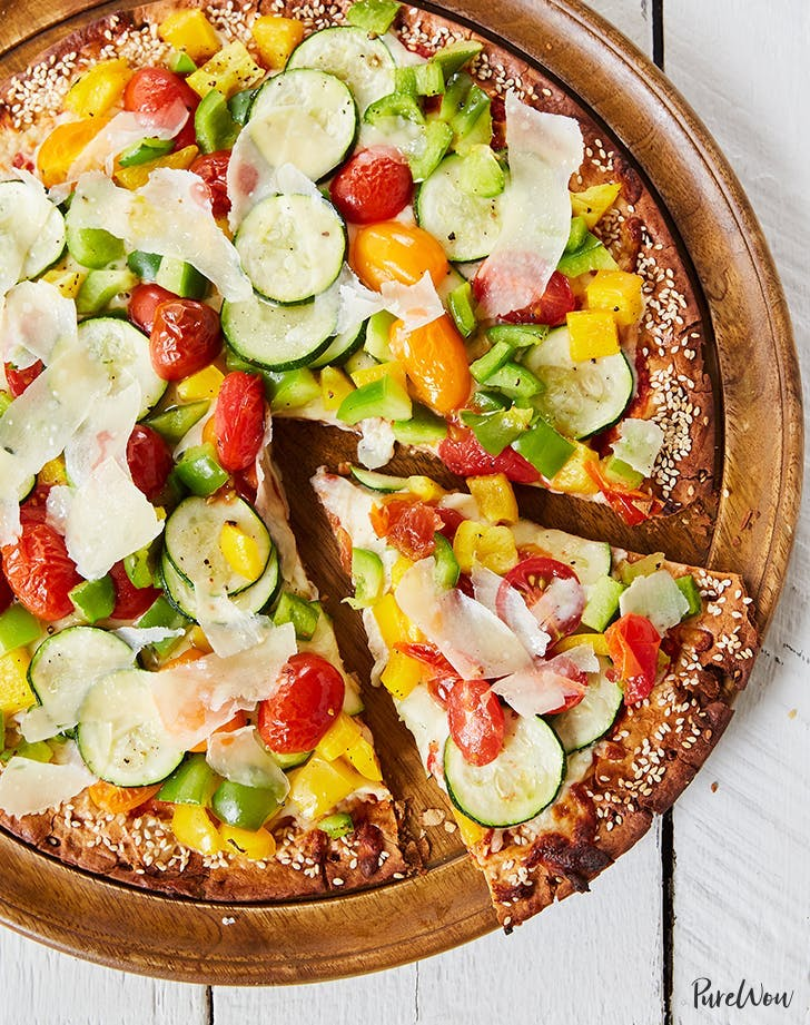 cheaters vegetarian pizza zucchini bell peppers recipe