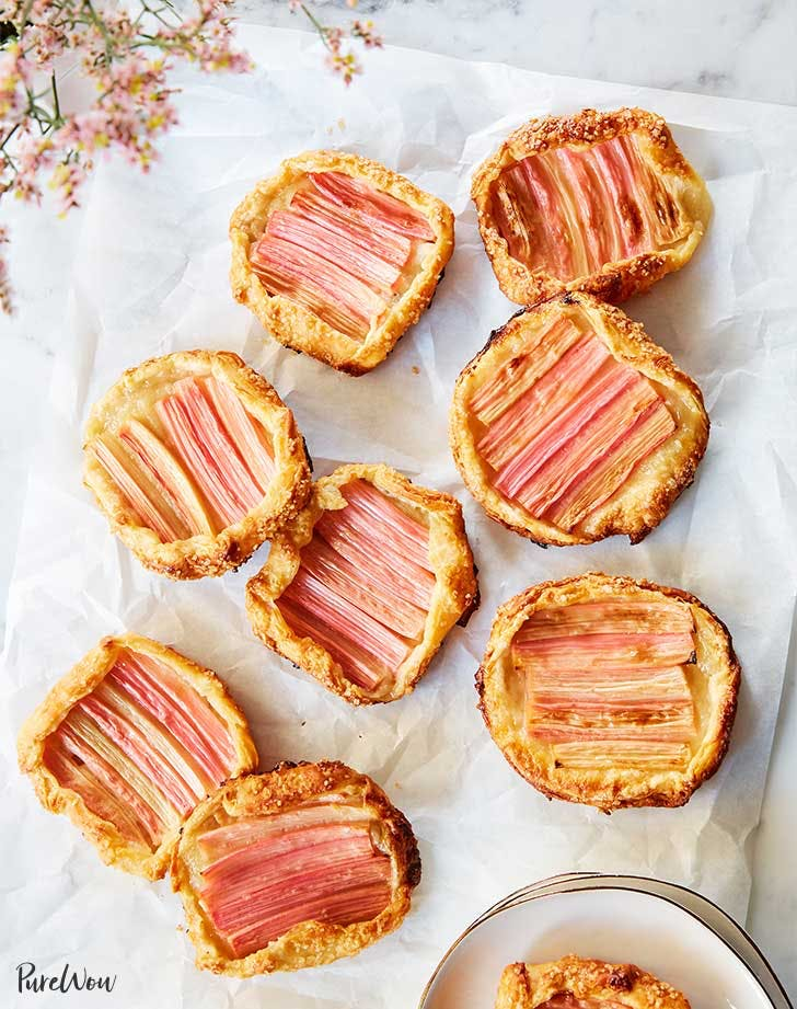 cheaters mini rhubarb galettes recipe