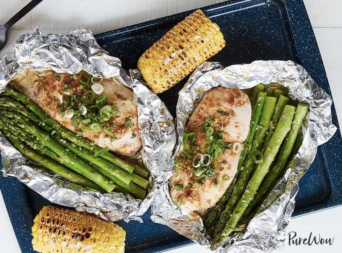 chicken and veggies foil