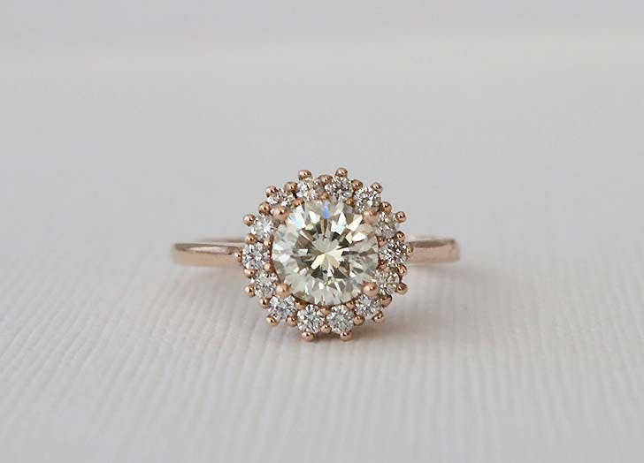 cluster wedding ring 728