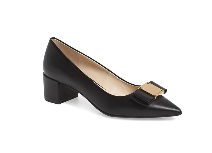 cole haan bow pump