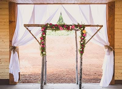 country wedding rustic altar