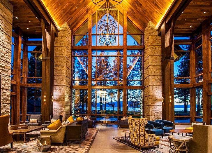 edgewood tahoe resort california windows wood brick