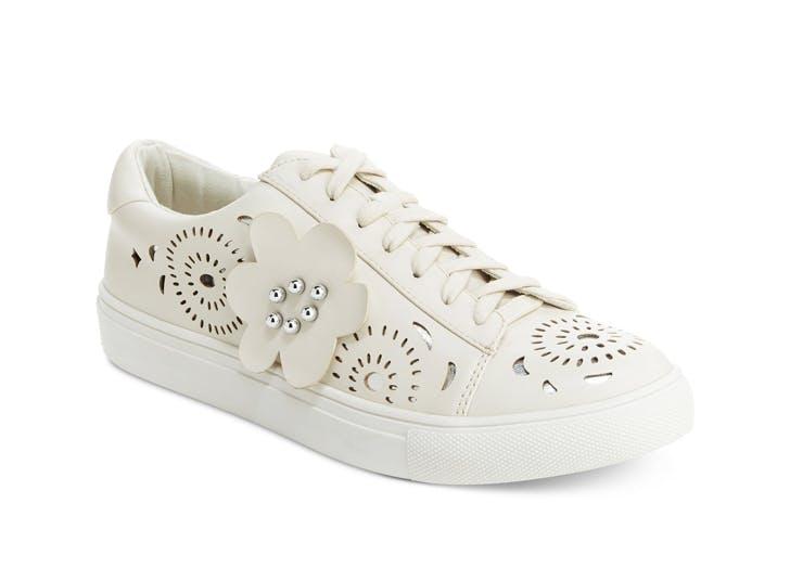embellished sneaker white