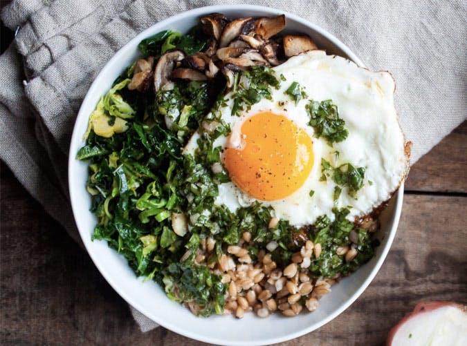 farro bowl egg