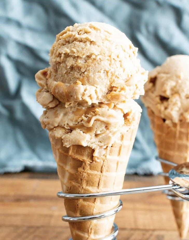 four ingredient banana peanut butter swirl ice cream recipe