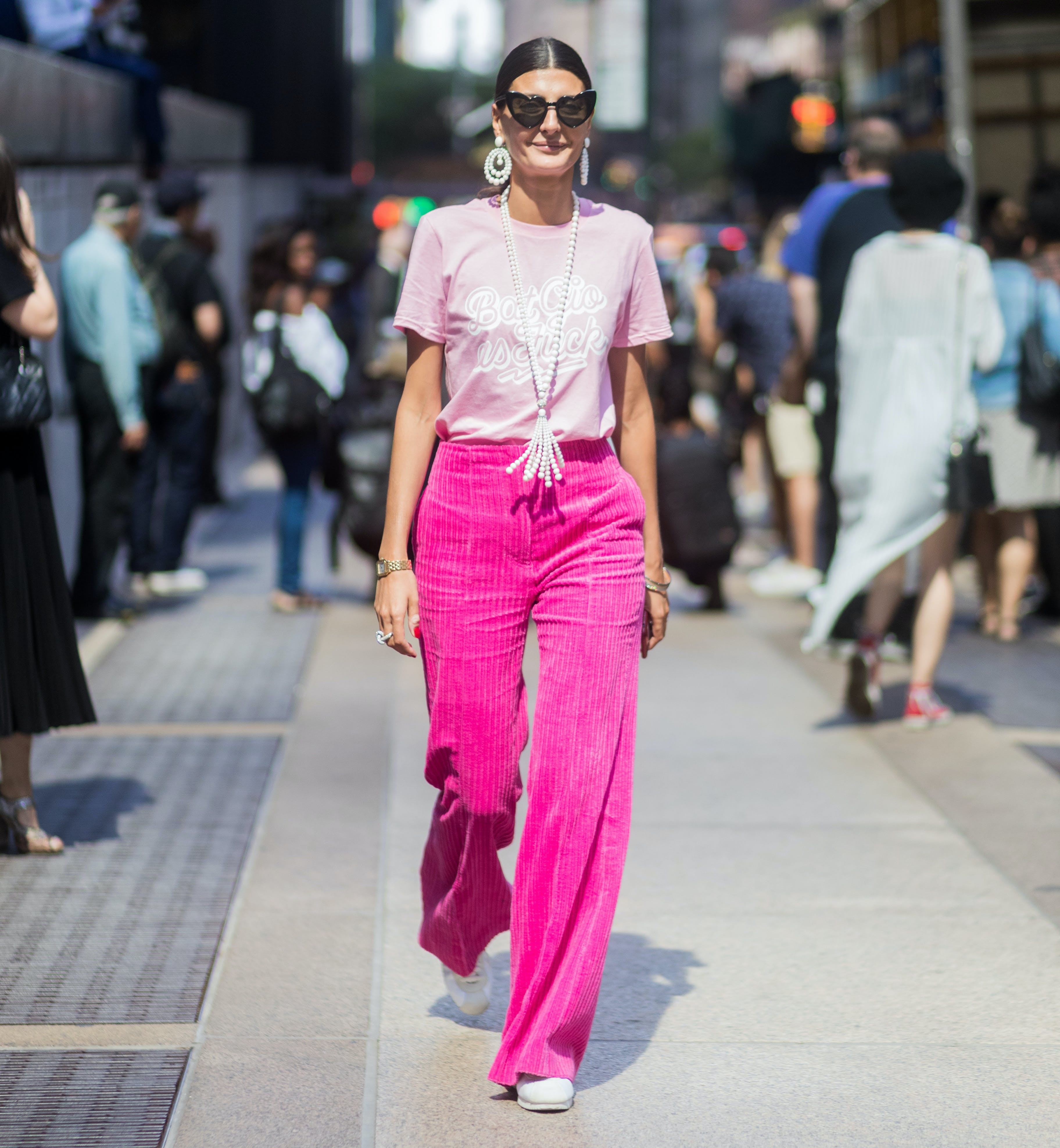 giovanna battagglia wearing all pink everything