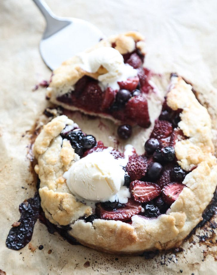 gluten free red white and blueberry galette recipe