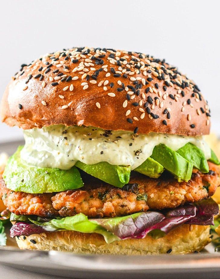 green goddes salmon burgers recip