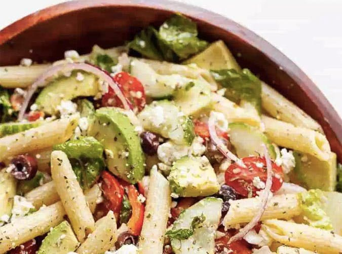 herb lemon pasta salad