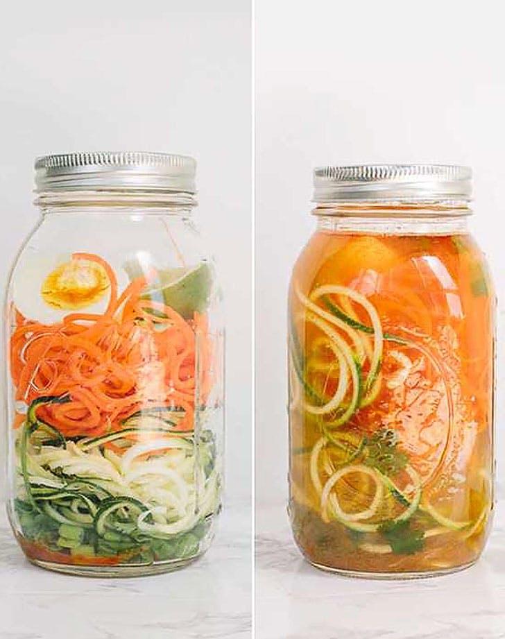 instant cup noodles spiralized vegetables recipe