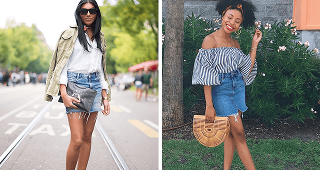 4e34d48db407 6 Ways to Wear a Jean Skirt - PureWow