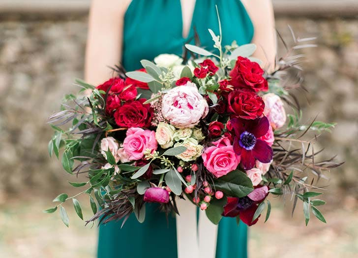 jewel tone wedding bouquet