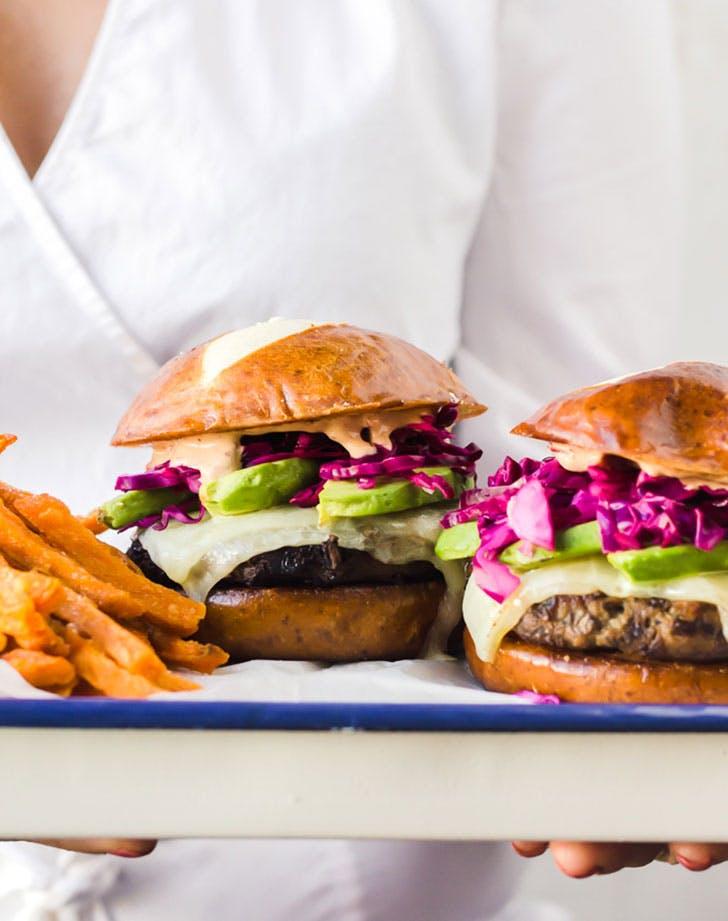 juicy turkey burgers caramelized onions mushrooms recipe