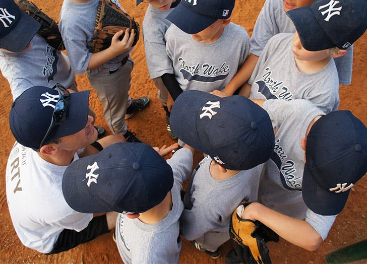 kids baseball team coach yankees hats