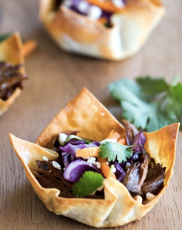 korean taco cups recipe