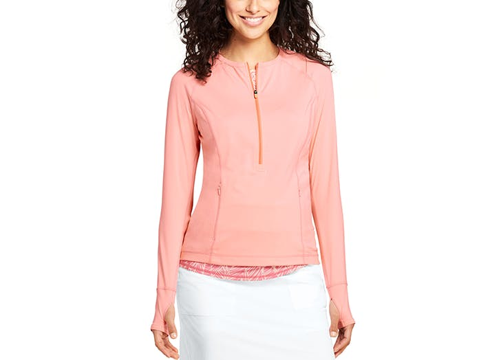 lands end zip up layer with upf 50