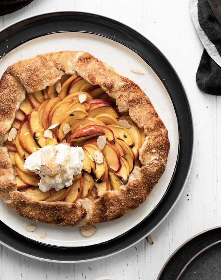 lemon thyme peach galette recipe