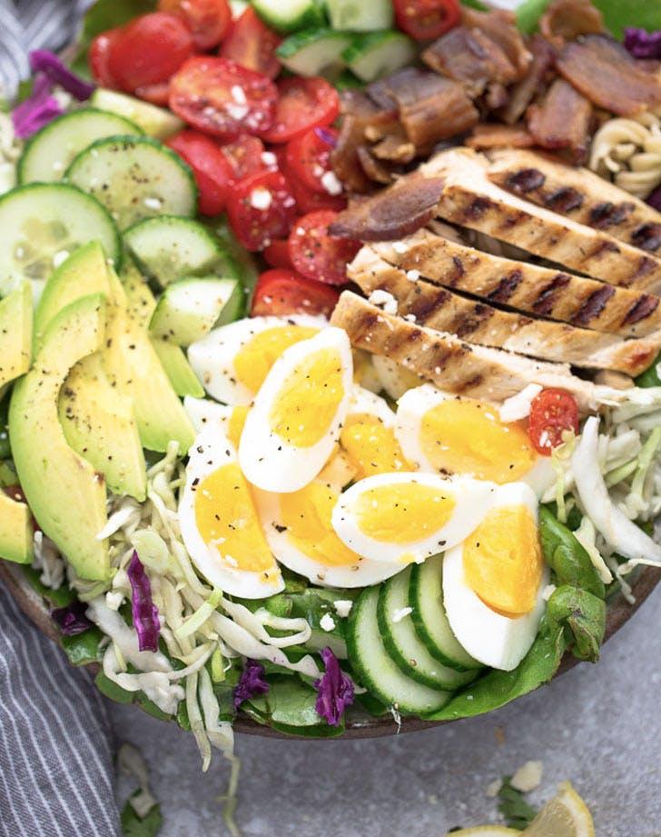 low carb chicken cobb salad recipe