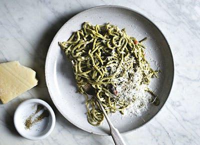 matcha spaghetti cacio e pepe recipe 290