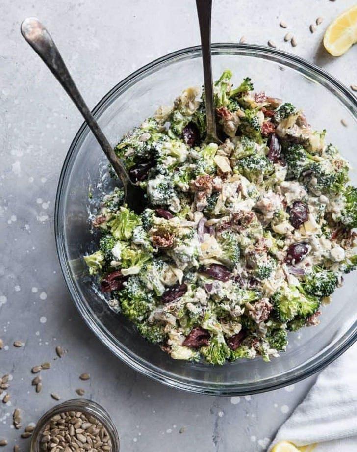 mediterranean low carb broccoli salad recipe