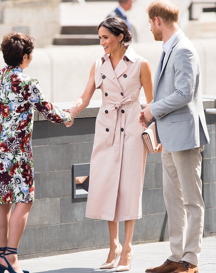 meghan markle nonie trench dress