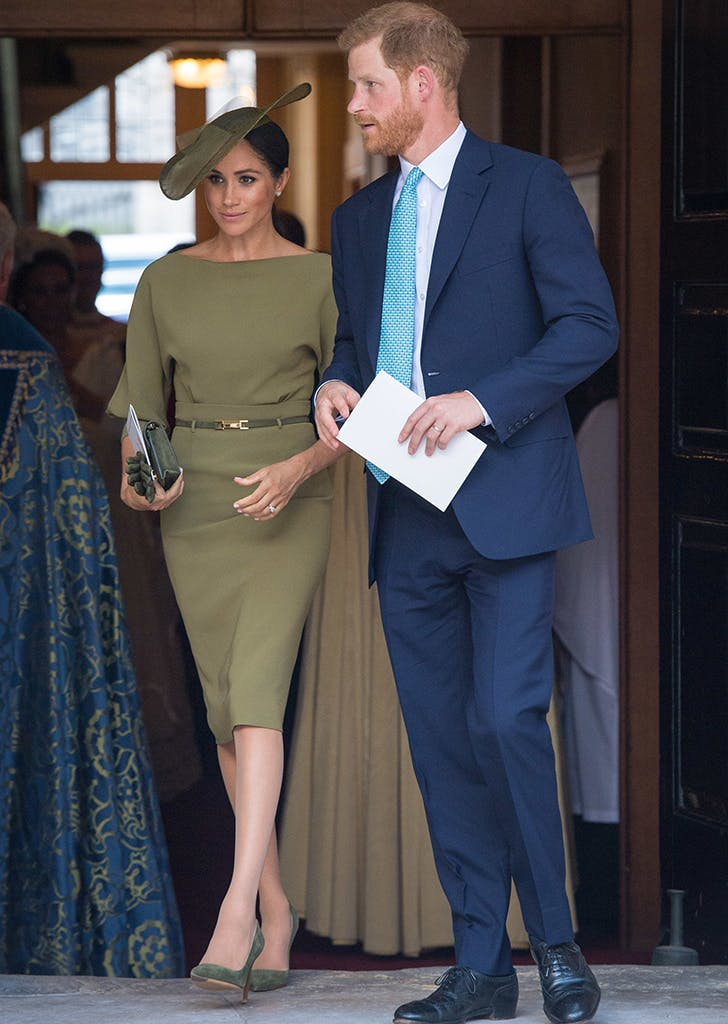meghan markle dress prince louis christening
