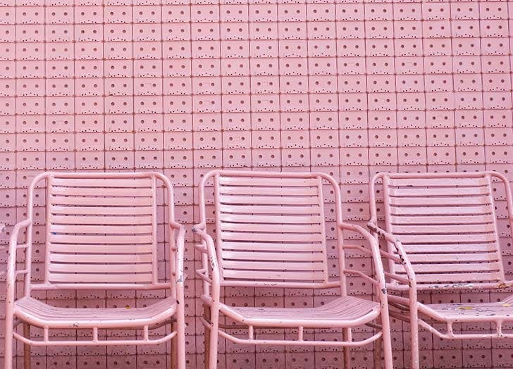 millenial pink chairs